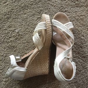 Toms wedding wedge shoes